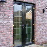 black french-doors